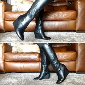 Steve Madden Wedge Knee High leather boots